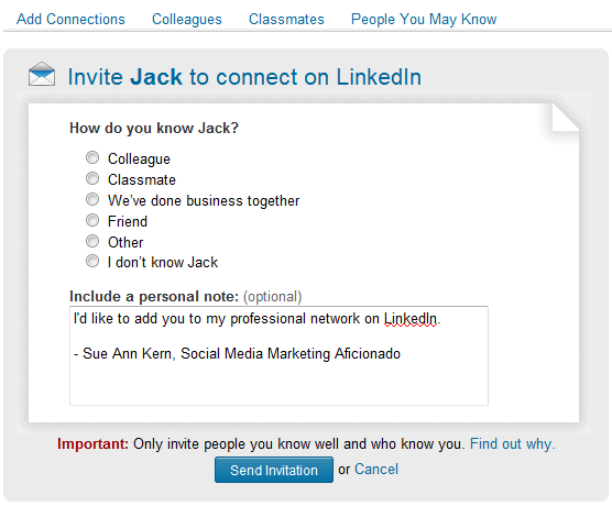 make your linkedin invitations more inviting faceitsocialmedia